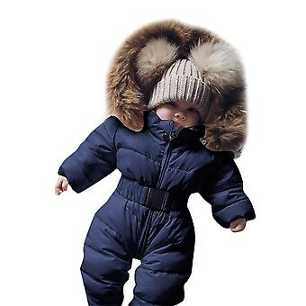 Cute Children's Winter Jumpsuit Jacket Hooded Warm Thick Outfit