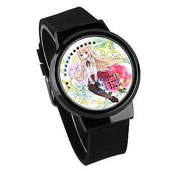 Waterproof Luminous LED Digital Touch Children watch  - himono onna #38