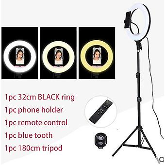 Selfie Ring Light With Phone Camera Holder, Photography Lighting With Tripod