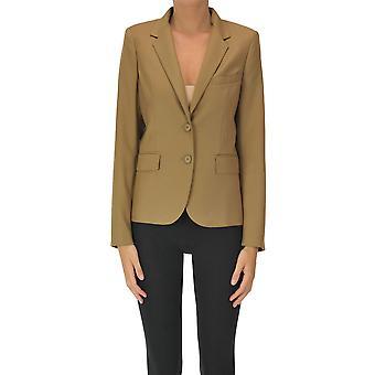 I.c.f. Ezgl456028 Women's Beige Polyester Blazer