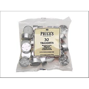 Prices Tealights Bag White x 30 TE301228