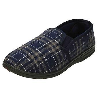 JWF Tartan Twin Gusset Slippers