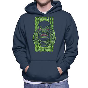 The Creature From The Black Lagoon Head Illustration Men's Hooded Sweatshirt