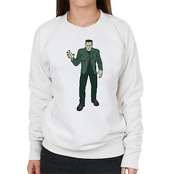 Frankenstein Monster Pose Illustration Women's Sweatshirt