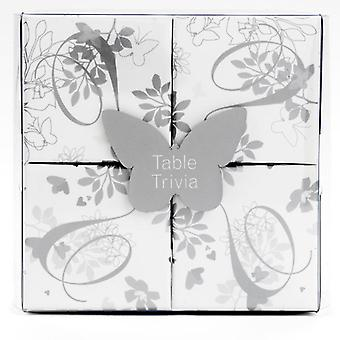 Wedding Table Trivia (Silver and White) Party Game