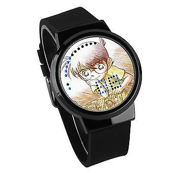 Vandtæt lysende LED Digital Touch Børn ur - Detective Conan #14