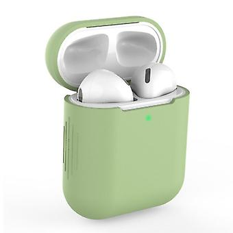 SIFREE Flexible Case for AirPods 1/2 - Silicone Skin AirPod Case Cover Smooth - Green