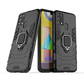 Keysion Samsung Galaxy A31 -kotelo - Magneettisen iskunkestävä kotelon kansi Cas TPU Musta + Jalusta