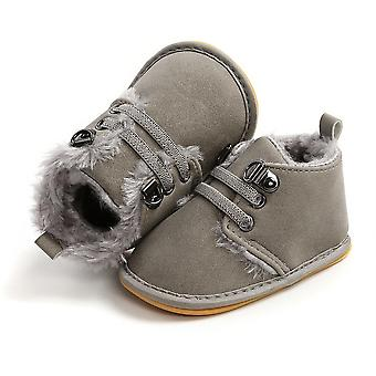Newborn Baby Booties Winter Warm Fur Lining Non-slip Rubber Sole Boots Infant