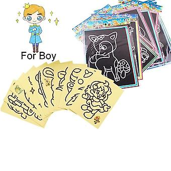 20pcs Early Educational Learning Creative Drawing Toys For- Magic Scratch Art
