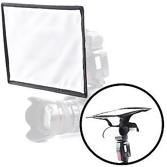 Movo mp-lb5 20x30cm speedlight tesatura flash softbox difuzor cu roll-up ferestre pentru umplere lumina / bou