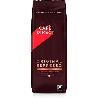 Cafedirect Fairtrade (FCR0013) Grains de café ESPRESSO 1Kg x 4