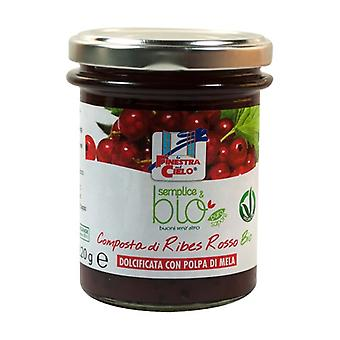 Simple & organic red currant compote (with apple pulp) 220 g