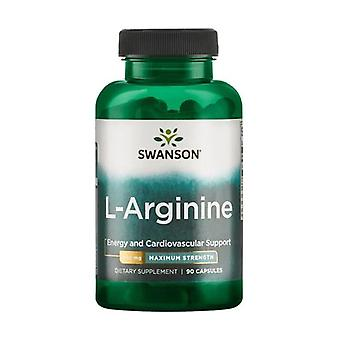 Premium l-arginine - maximum strength 850 mg 60 capsules of 850mg