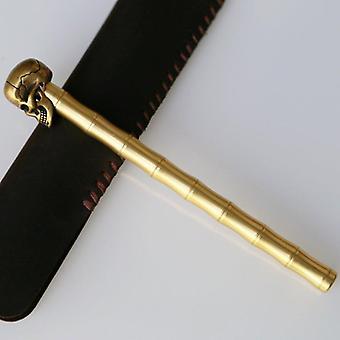Penna teschio in ottone