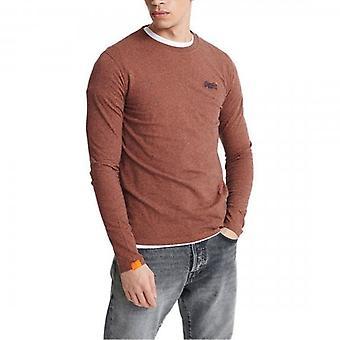 Superdry OL Vintage Emb LS T-Shirt Orange Grit Z5Z