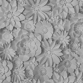 Fine Decor Dimensions Floral Grey Wallpaper