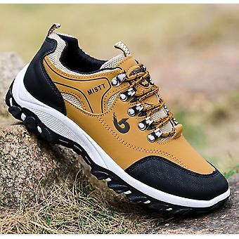 Men Leather Outdoor Hiking Sneakers, Non-slip Casual Military Army Shoes