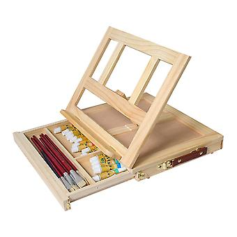 Art Supply Small Adjustable Wood Table Sketchbox Easel Wood Color