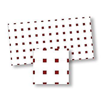 Κουκλών Σπίτι Κόκκινο & amp; Λευκό ισπανικό ψηφιδωτό πάτωμα κεραμίδι μικροσκοπικό δάπεδο