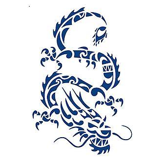 "Fake Tattoo ""Dragon"" Blue"