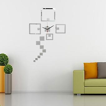 2 Colors diy wall decal clock wall stickers watch acrylic dice wall sticker home wall decor