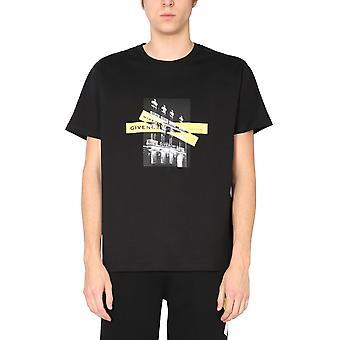 Givenchy Bm711s3002001 Men's Black Cotton T-shirt