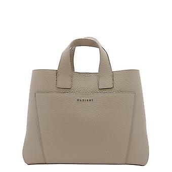 Orciani B02075softconchiglia Women's Beige Leather Handbag