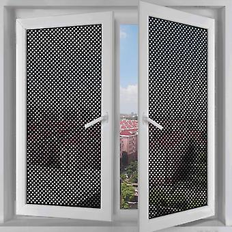 Self-adhesive Mesh Window Film Sun Window Stickers Light Privacy Room Darkening