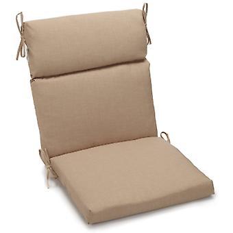 Coussin de chaise carrée extérieure en polyester de 18 pouces par 38 pouces - Grès