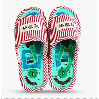 1 Pair acupressure points massage shoes magnetic reflexology slippers pain relief promote blood circulation foot massager