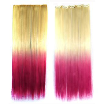 Longue Striaght Hair Gradient Ramp Wig Hair Extension