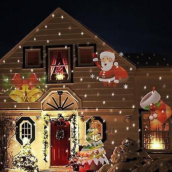 Joulu laser lumihiutale projektori, Halloween led vedenpitävä Disko valot,