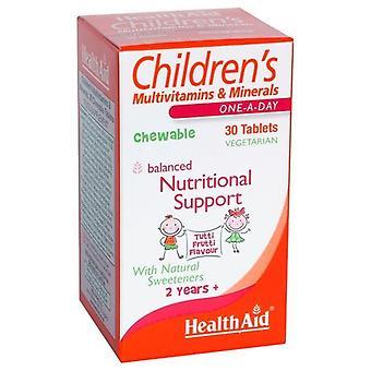 Terveysapu Monivitamiinit + Mineraalit Lapset's Pureskeltava hedelmäMaku 30 Tablettia