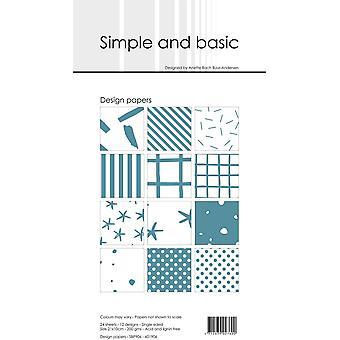 Enkelt och grundläggande Aqua Slim Paper Pack