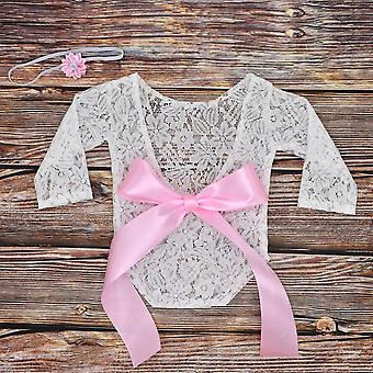 Newborn Photography Props, Baby Bow Clothing, Princess Lace Romper, Studio
