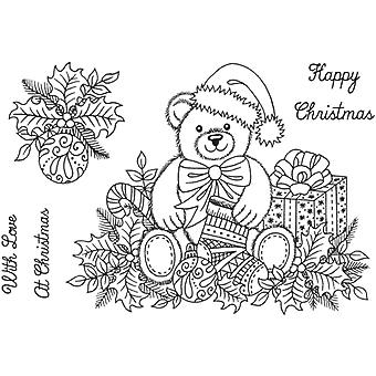 Sweet Dixie A6 Clear Stamp Set - Christmas Teddy