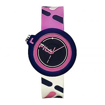 FILA 38-6081-004 Mixed Horloges - Siliconen Rose Armband