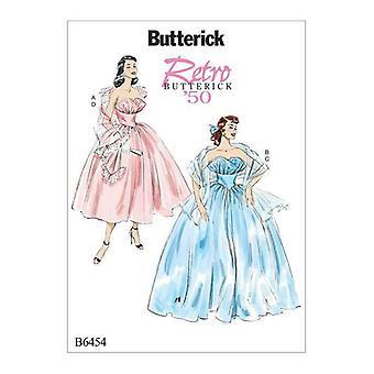 Butterick ompelu kuvio 6454 Misses Röyhelömekot Huivit Koko 6-14 Leikkaamaton