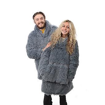 Country Club Yeti Blanket Hoodie, Grey