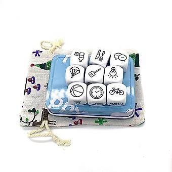 Story Dice Puzzle Board Game, Telling Metal Boxes, Family/party/friends Parents