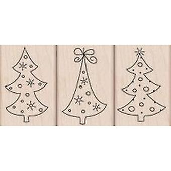 Hero Arts 3 Tree Ornaments Rubber Stamp