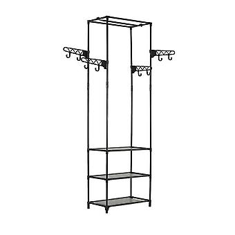 Clothes Rack Steel And Non Woven Fabric 55 X 28 X 175 Cm Black