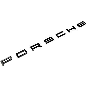 Gloss Black Porsche Lettering Rear Boot Badge Emblem For 911 Carrera Cayenne Turbo GT3