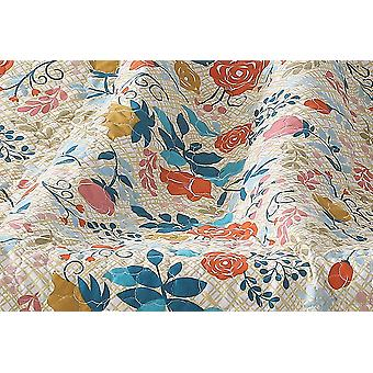 Spura Home Tropical Floral Greta Transitional Quilted Throw