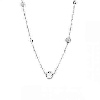 Ti Simões 3907ZI - pedra de óxido branco colar colar de prata