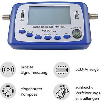 FengChun Sat Finder Messgerät Digi Pro+ I Digitaler Satellitenfinder mit LCD-Display Kompass