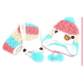 Beanies Ours Winter Fur Baby & Scarf & Hat Sets