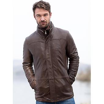Garsdale Leather Coat in Brown