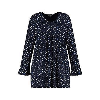 ULLA POPKEN Faltchenshirt mit Minimalprint Hund T-Shirt, Sky, Large Sizes Woman(2)